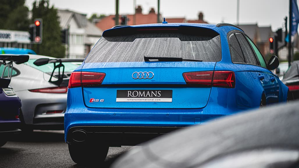 Audi RS6 Avant - Rear on Roman's forecourt